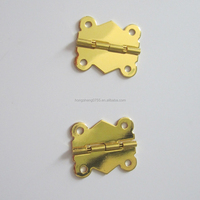 Promotion Metal Butt hinge with shinny gold from China supplier