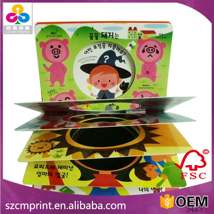 colored blank recordable puzzle story books for children