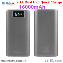 2017 Mobile Power Bank Real Capacity 16000 mAh Battery RechargeableMobile Charger For Xiaomi