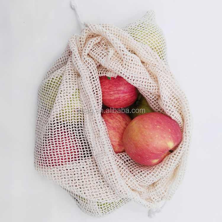 Eco-conscious Cotton Mesh pouch bag