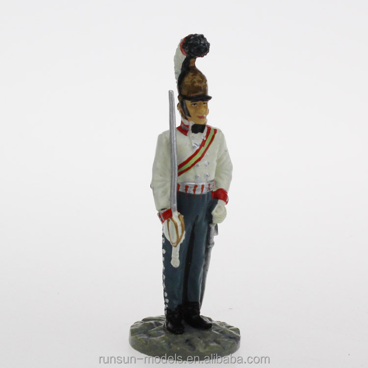 White metal soldier figure, small toy soldier