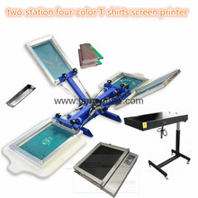 TM-R4k 2-station 4 Color Octopus Screen Printing Press