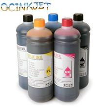 OCINKJET Environmental Friendly 1000ML 5 Colors Genuine Dye Ink For HP T1200 T790 T1300 Printer