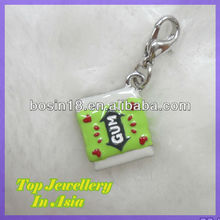 Cheap Personalized Enamel Handmade Chewing Gum Cool Charm with Lobster Clasp #16289