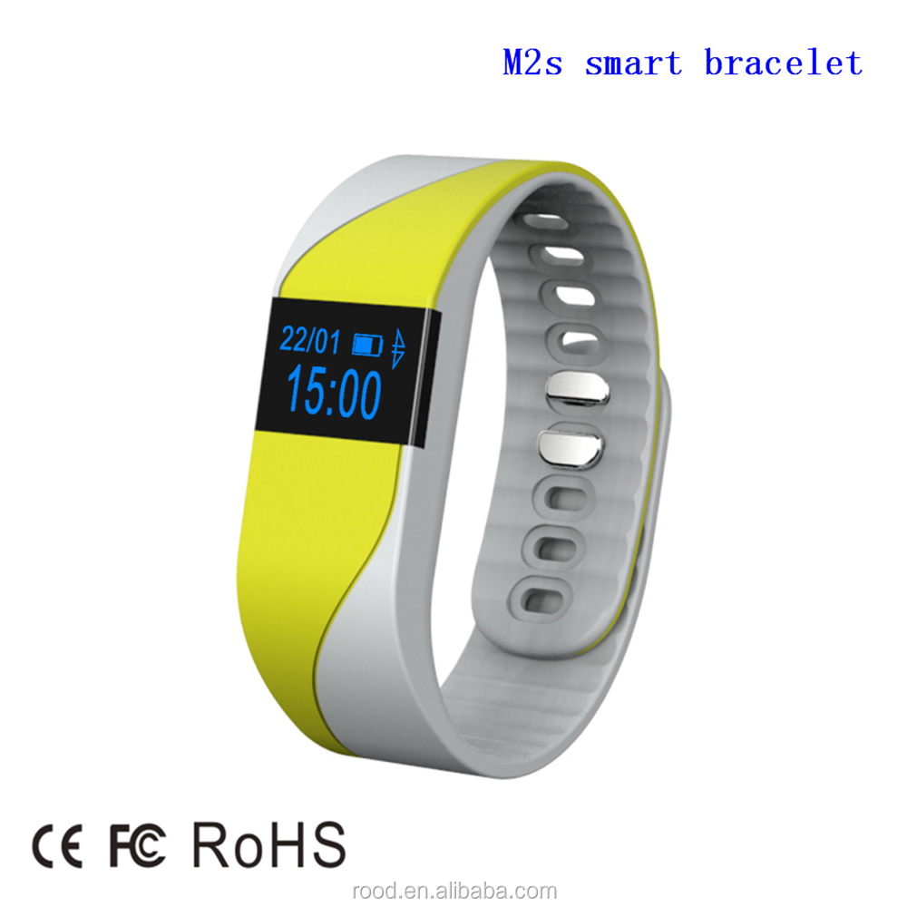 2016 health sport fitness waterproof silicone OLED screen intelligent bracelet 5 colors high quality smart wristband watch