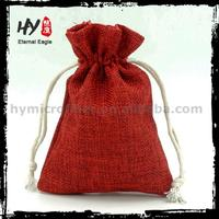 Small cheap eco canvas jewellery pouch, small jewellery pouch, jute drawstring bag