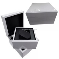 luxury shiny white wood watch box with pillow