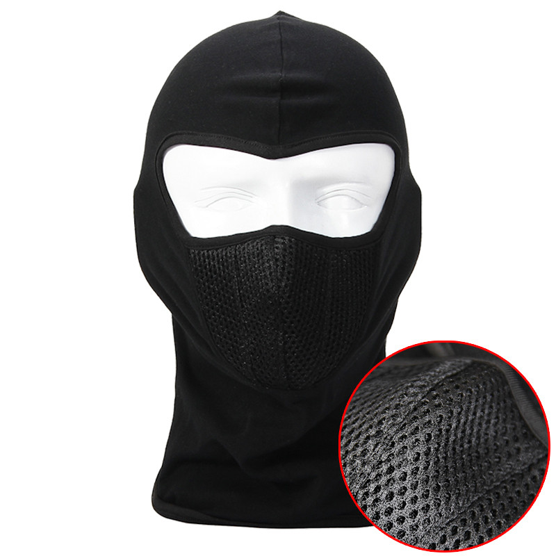 Black Balaclava Breathable Outdoor Sports Riding Ski Masks Hiking Tactical Head Cover Motorcycle Cycling Protect Full face Mask