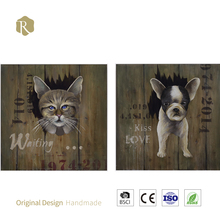 3D Oil Painting New Design Animal Wall Hanging Product For Hotel Bar 3D Animal Wall Arts