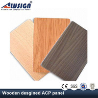 Alusign high-precision coating building materials for wooden design decoration acp panel aluminum composite panel