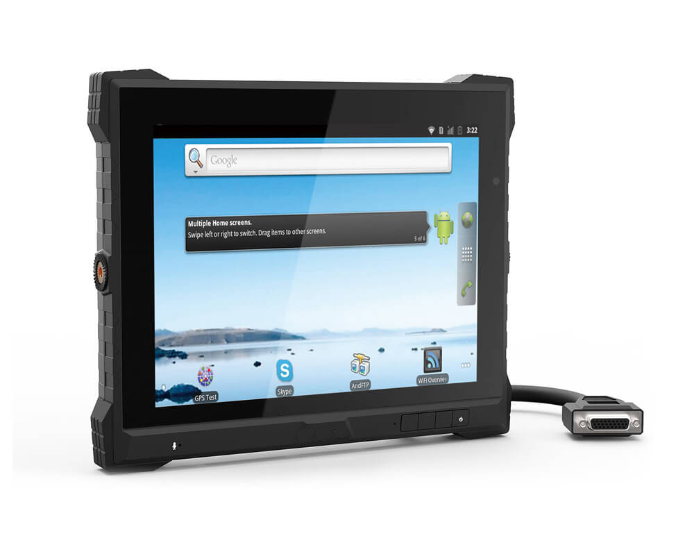 9.7 inch IP64 Rugged Android 5.1 Fleet Management Tracking System w/ 4G LTE, GPS, Wifi, BT, CAN Bus, ACC, PoE, GPIO, RS422 ports