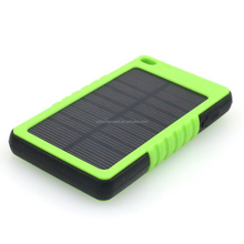 Newest high quality solar power bank , Waterproof Solar Power Bank Solar Portable Charger 5000mAh