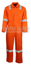 Tecron Safety Flame Resistant Cotton Coverall / Flame Retardant Coverall / Antistatic Fabric