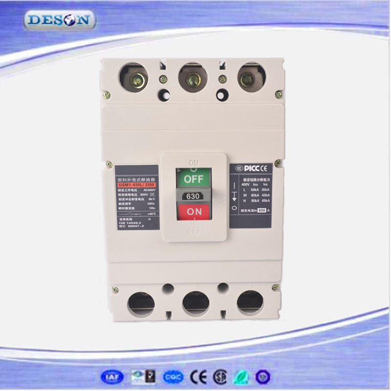 Three Phase Over-voltage Protection Circuit Breaker MCCB AC 400V/690V 500/630Amp
