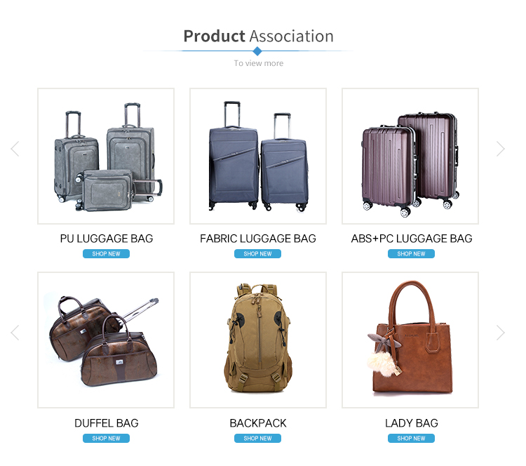 Wholesale Luxury travel package rolling Fabric luggage bag