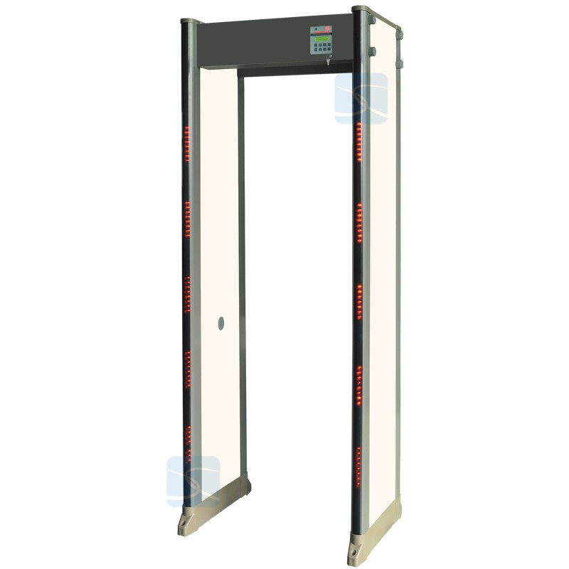 CE approved 33 detect zones walk through metal detector gate