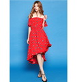 hot sale casual vintage fashion maxi swing printed dress OEM supply