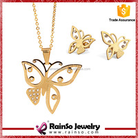 Lovely Student Necklace Gold Plated Genuine Austrian Crystal Jewelry
