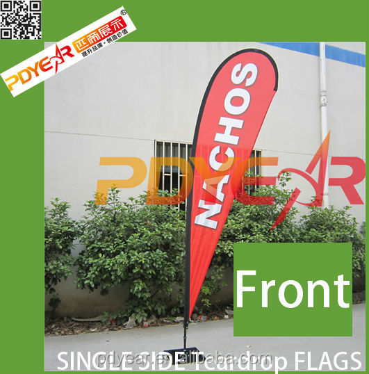 Trustworthy china supplier PVC printing outdoor polyester banner flag and outdoor and indoor beach flag