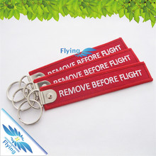 High quality short embroidery key strap with carabiner& d-ring