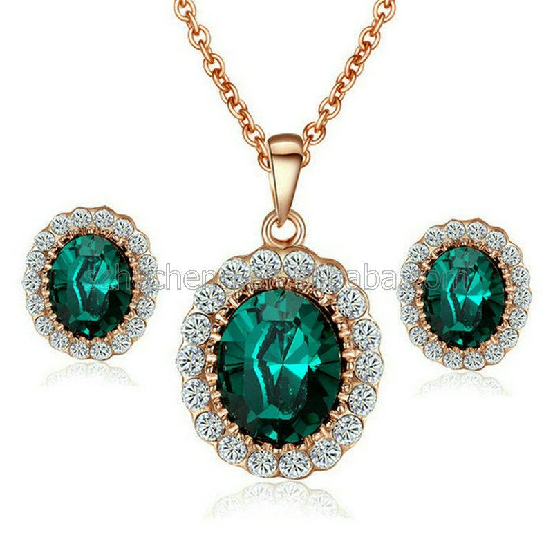professional 18k gold plated dubai bridal jewelry set