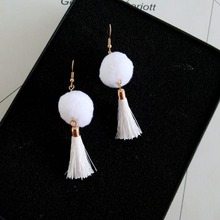 Tassels and Pompoms Design Latest Cute Girls Earrings