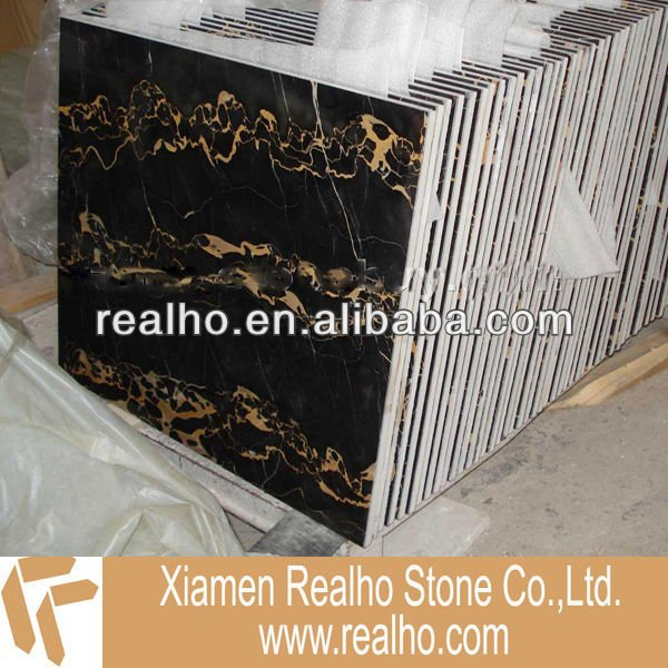 wholesale black and gold marble