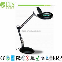 Photography magnifier light with base;ideal lamp for reading,work and hobby; 5.4 Watts SMD LED