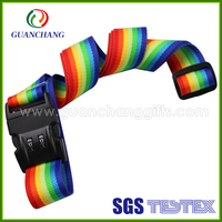 Custom High Quality reflective Luggage Belt with Lock