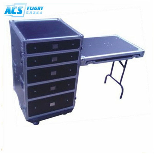 Durable Aluminum flight case with drawer/rolling case with drawers