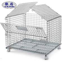 China Manufacturer Alibaba Best Seller warehouse management system folding wire mesh container storage cage for sale