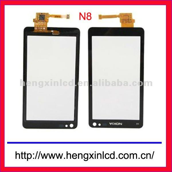 Genuine For Nokia N8 Digitizer Bezel Frame Glass Touch Screen Lens Pad Original and New