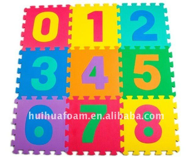 Educational Large Number Puzzle Baby Mat HT-M010