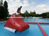 Super manufacture inflatable water climbing wall