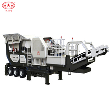 portable stone crusher mobile jaw crusher cone and impact movable crusher plant