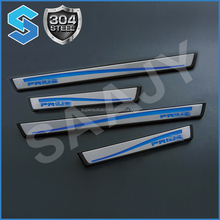 2013 new car accessories led door sill step auto pedal plastic with factory price wholesale