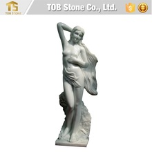 Pure white marble goddess sculpture
