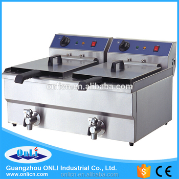 CE approvel Professional 2x10L commercial electric oil outlet deep fryer