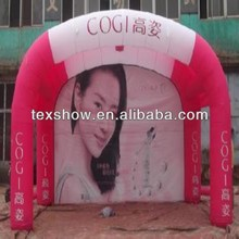 Inflatable fabric for decorating tent [flame retardant,light weight,high tensile]