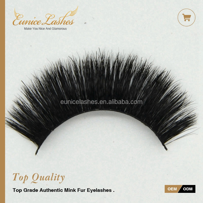 3D horse hair false lashes with own brand private label lashes