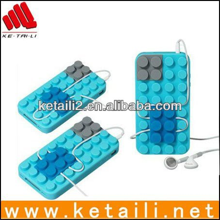2013 new stylish lego silicon case for iphone 5