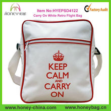 Factory Supply Carry On White Retro Woman Shoulder Bag For Promotion