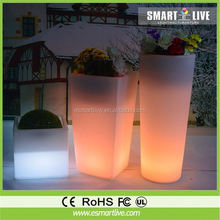rotomolded led flower pot, plastic planter