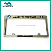 decorative plastic chrome license plate frame