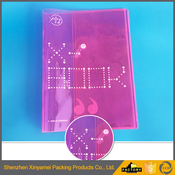 2-fold transparent pvc book cover for school usage,colorful transparent PVC plastic book cover,A4 A5 transparent book cover