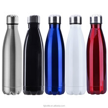 New Double wall Vacuum insulated Coke Shape 350/500/750ml stainless steel water bottle with sealed Lid
