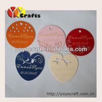 laser cut pearl paper kraft paper Garment Tag from YOYO crafts