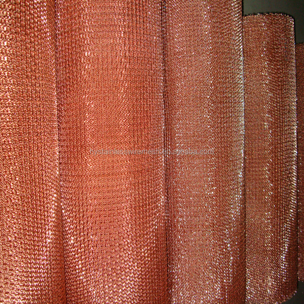 China manufacture radiation shielding red copper wire mesh