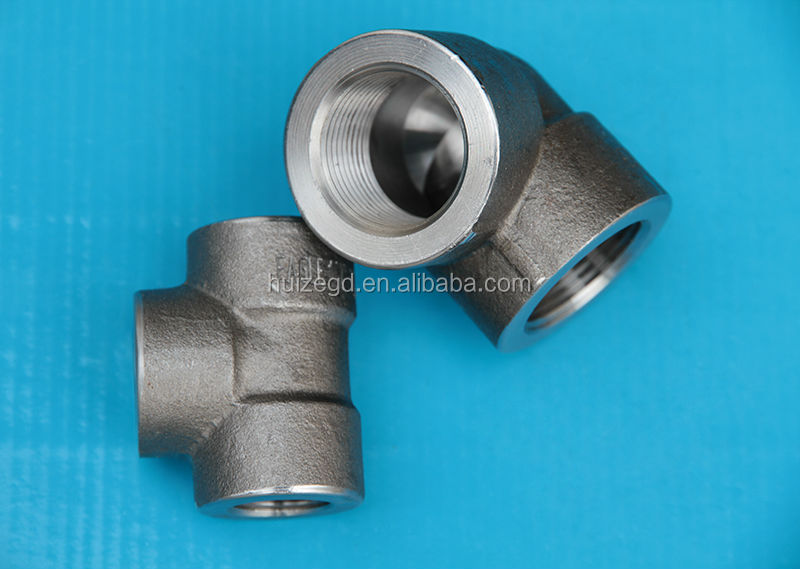 astm sch160 90 degree elbow threaded 3000lb pipe fittings