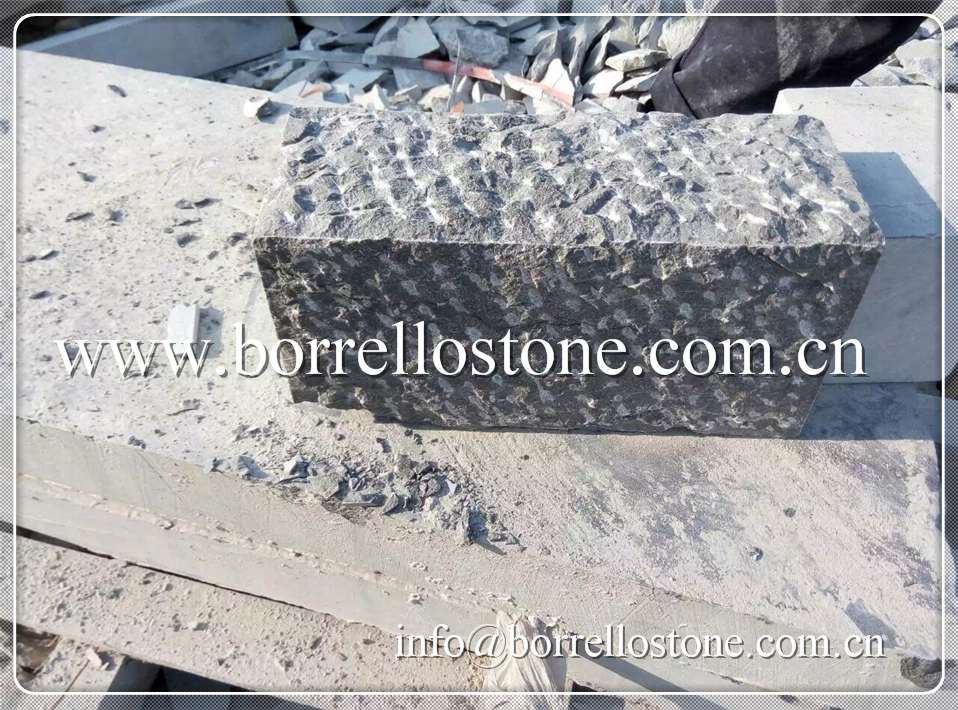 gray rough picked bluestone curbstone for landscaping